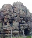 仿风化岩塑石假山